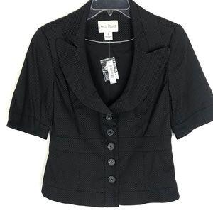 WHBM short sleeve NWT collared blazer/jacket Sz 10